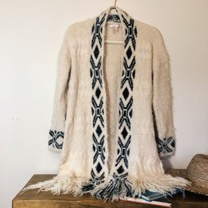 Forever 21 Long, Cozy and Soft Cream Cardi